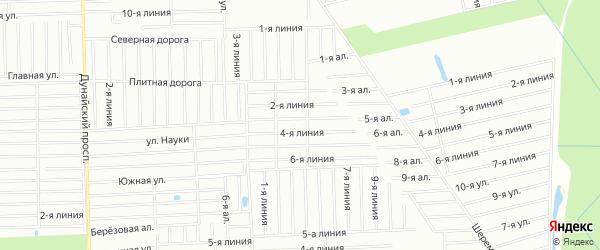 Карта садового некоммерческого товарищества Русского дизеля массива Дуная в Ленинградской области с улицами и номерами домов