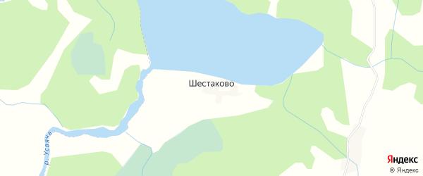 Карта деревни Шестаково в Псковской области с улицами и номерами домов