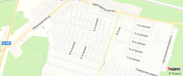 Карта территории ГСК Кристалла города Всеволожска в Ленинградской области с улицами и номерами домов