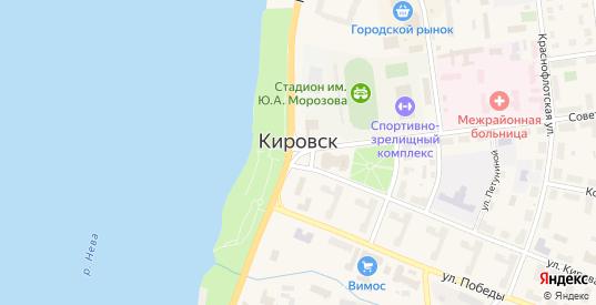 Набережный ГСК в Кировске с номерами домов на карте. Спутник и схема онлайн