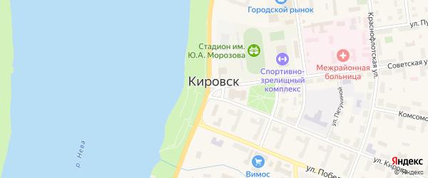 Улица Дружбы на карте Кировска с номерами домов