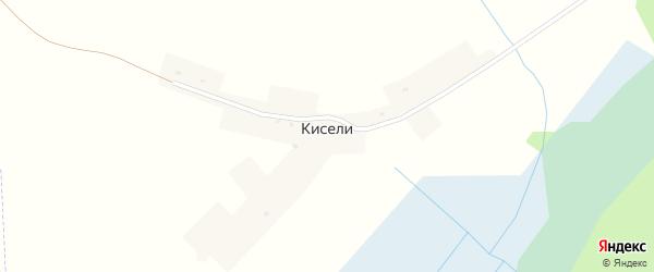 Луговая улица на карте деревни Кисели Смоленской области с номерами домов