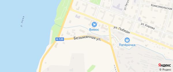 Безымянная улица на карте Кировска с номерами домов