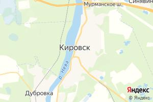 Карта г. Кировск Ленинградская область