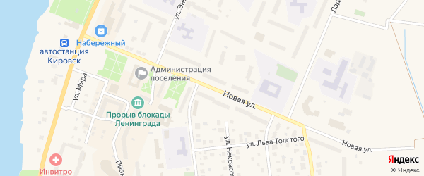 Новая улица на карте Кировска с номерами домов