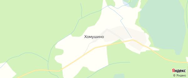 Карта деревни Хомушино в Псковской области с улицами и номерами домов