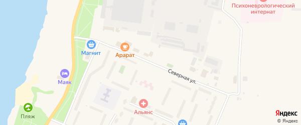 Северная улица на карте Кировска с номерами домов