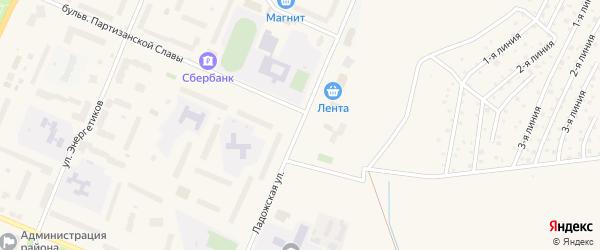 Ладожская улица на карте Кировска с номерами домов