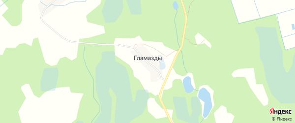 Карта деревни Гламазды в Псковской области с улицами и номерами домов
