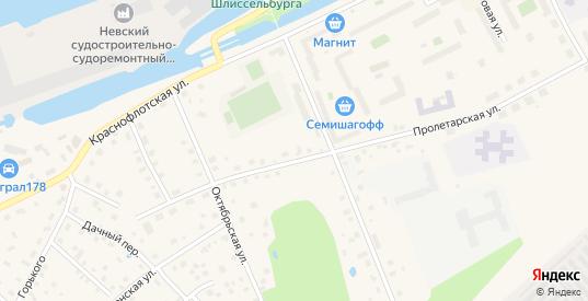 Пионерская улица в Шлиссельбурге с номерами домов на карте. Спутник и схема онлайн