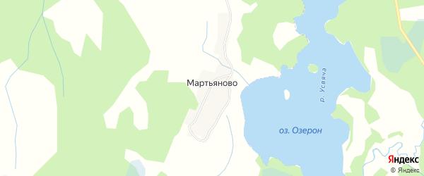Карта деревни Мартьяново в Псковской области с улицами и номерами домов