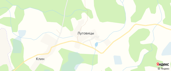 Карта деревни Луговицы в Псковской области с улицами и номерами домов