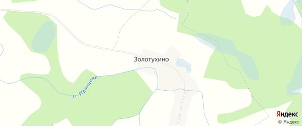 Карта деревни Золотухино в Псковской области с улицами и номерами домов