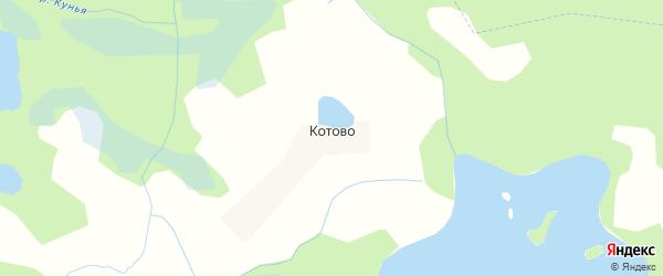 Карта деревни Котово в Псковской области с улицами и номерами домов