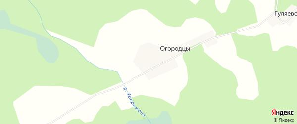 Карта деревни Гуляево в Псковской области с улицами и номерами домов