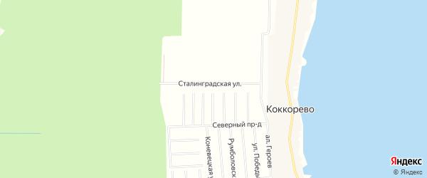 Территория Массив Коккорево КП Ладожский маяк на карте Всеволожского района Ленинградской области с номерами домов