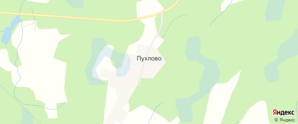 Карта деревни Пухлово в Псковской области с улицами и номерами домов