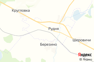 Карта г. Рудня Смоленская область