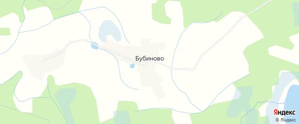 Карта деревни Бубиново в Псковской области с улицами и номерами домов