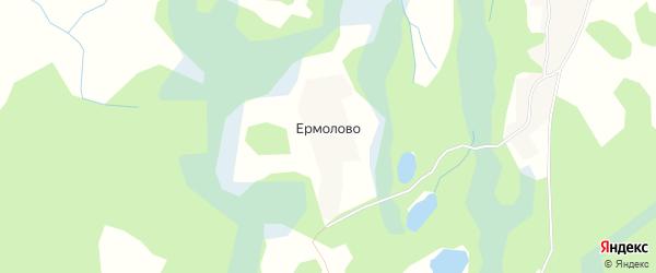 Карта деревни Ермолово в Псковской области с улицами и номерами домов