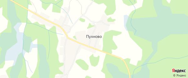 Карта деревни Пухново в Псковской области с улицами и номерами домов