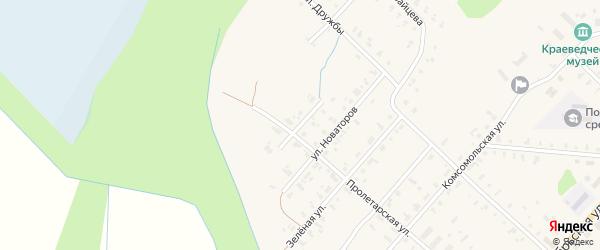 Улица Новоселов на карте села Поддорья Новгородской области с номерами домов