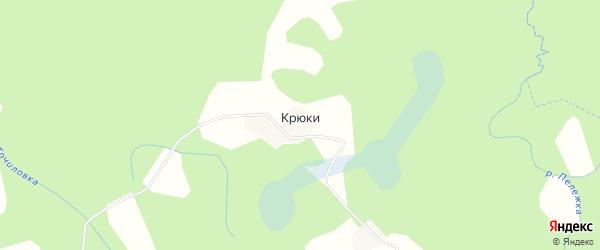 Карта деревни Крюков в Псковской области с улицами и номерами домов
