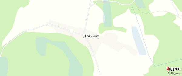 Карта деревни Люткино в Псковской области с улицами и номерами домов
