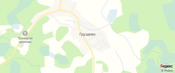 Карта деревни Груздово в Псковской области с улицами и номерами домов