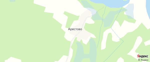 Карта деревни Арестово в Псковской области с улицами и номерами домов
