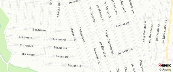 Южная улица на карте территории Восхода им Козицкого с номерами домов