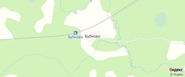 Карта деревни Бубново в Псковской области с улицами и номерами домов
