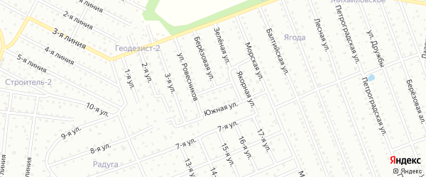 Авиационная улица на карте территории Ягоды с номерами домов