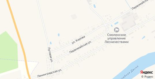 Улица Кирова в Велиже с номерами домов на карте. Спутник и схема онлайн