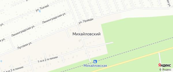 Еловая улица на карте Михайловского поселка Ленинградской области с номерами домов