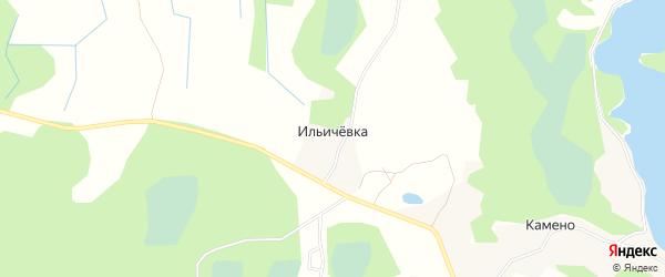 Карта деревни Ильичевки в Псковской области с улицами и номерами домов