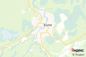 Карта г. Холм Новгородская область