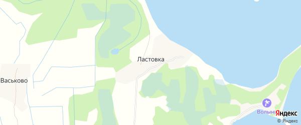 Карта деревни Ластовки в Псковской области с улицами и номерами домов