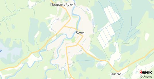 Карта Холма с улицами и домами подробная. Показать со спутника номера домов онлайн