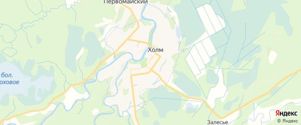 Карта Холма с районами, улицами и номерами домов
