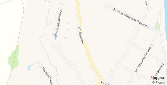 Улица Ленина в Велиже с номерами домов на карте. Спутник и схема онлайн