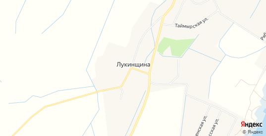 Карта деревни Лукинщина в Новгородской области с улицами, домами и почтовыми отделениями со спутника онлайн
