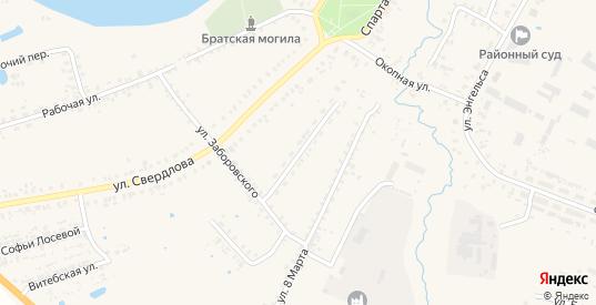 Коммунистическая улица в Велиже с номерами домов на карте. Спутник и схема онлайн
