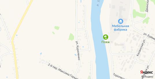 Улица Куриленко в Велиже с номерами домов на карте. Спутник и схема онлайн
