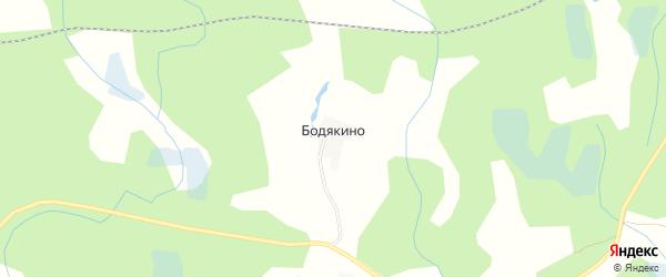 Карта деревни Бодякино в Псковской области с улицами и номерами домов