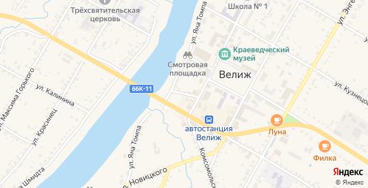 Судейский переулок в Велиже с номерами домов на карте. Спутник и схема онлайн