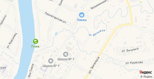 Переулок Красных Зорь в Велиже с номерами домов на карте. Спутник и схема онлайн