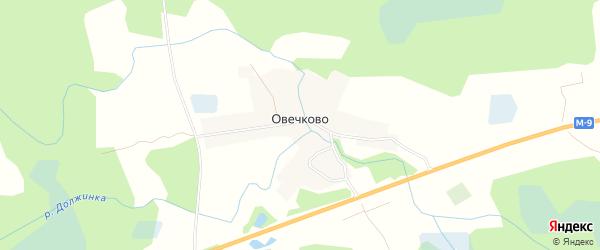 Карта деревни Овечково в Псковской области с улицами и номерами домов