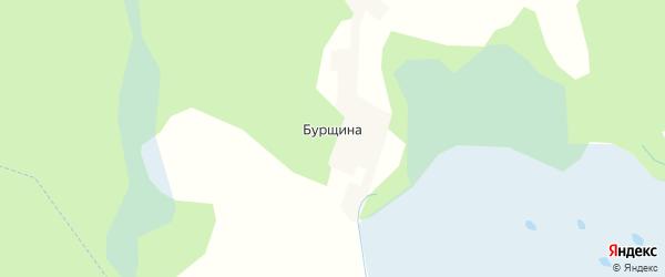 Карта деревни Бурщина в Псковской области с улицами и номерами домов