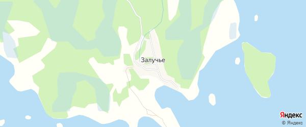 Карта деревни Залучья в Псковской области с улицами и номерами домов